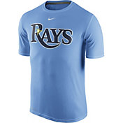 Nike Men's Tampa Bay Rays Dri-FIT Legend Wordmark Light Blue T-Shirt