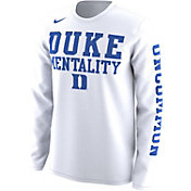 Nike Men's Duke Blue Devils 'Mentality' Bench Legend Long Sleeve Shirt