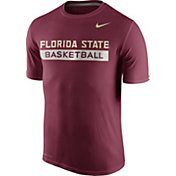 Nike Men's Florida State Seminoles Garnet Basketball Practice T-Shirt