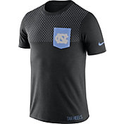 Nike Men's North Carolina Tar Heels Black Fresh Tri-Blend T-Shirt