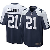 Nike Men's Throwback Home Game Jersey Dallas Cowboys Ezekiel Elliott #21