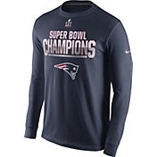 Nike Men's Super Bowl LI Champions New England Patriots Parade Navy Long Sleeve Shirt
