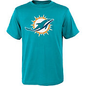 NFL Team Apparel Youth Miami Dolphins Logo Aqua T-Shirt