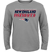 NFL Team Apparel Youth AFC Champions New England Patriots Leveled Up Long Sleeve Shirt