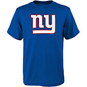 NFL Team Apparel Youth New York Giants Logo Blue T-Shirt