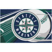 Northwest Seattle Mariners 39in x 59in Acrylic Rug