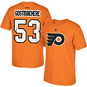 Reebok Men's Philadelphia Flyers Shayne Gostisbehere #53 Replica Player Orange T-Shirt