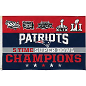 Rico 5-Time Super Bowl Champions New England Patriots Banner Flag