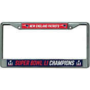 Rico Super Bowl LI Champions New England Patriots Chrome License Plate Frame