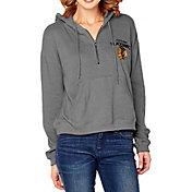 Soft As A Grape Women's Chicago Blackhawks Grey Quarter-Zip Hoodie
