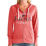 Touch by Alyssa Milano Women's Atlanta Falcons Tri-Blend Full-Zip Red Hoodie