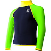 TYR Boys' Solid Long Sleeve Rash Guard