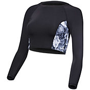 TYR Women's Verona Maya Long Sleeve Cropped Rash Guard