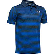 Under Armour Boys' Trajectory Stripe Golf Polo