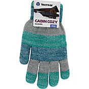 Yaktrax Women's Cozy Marled Stripe Gloves