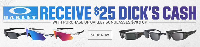 $25 Dick's Cash with Oakley Sunglasses Purchase $90 and up