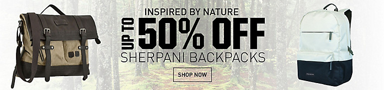 Save up to 50% on Sherpani Backpacks