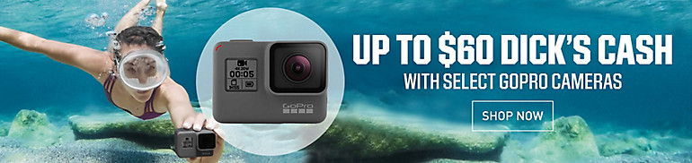 Shop Go Pro and Earn $60 Dicks Cash with Qualifying Purchase