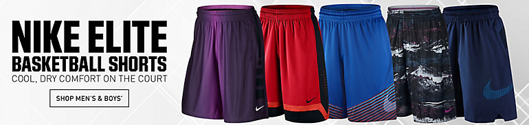 Nike Men's and Boys Elite Basketball Shorts