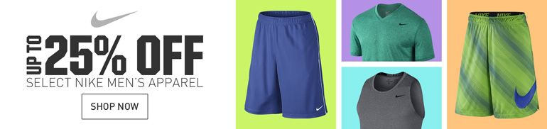 25% Off Select Nike Apparel