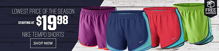 20% Off Nike Tempo Shorts