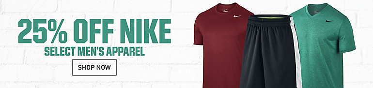 25% Off Select Men's Nike Apparel