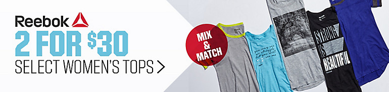 Mix and Match Savings on Select Women's Reebok Tops
