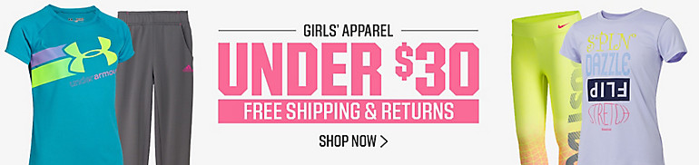 Girls' Apparel Under $30