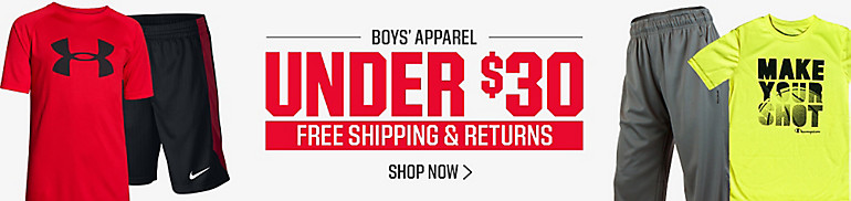 Boys Apparel Under $30
