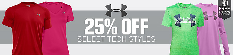 25% Off Select Under Armour Tech