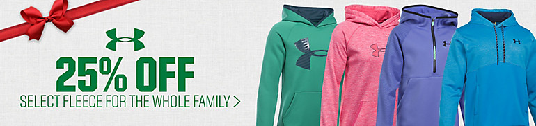 25% off Under Armour Fleece