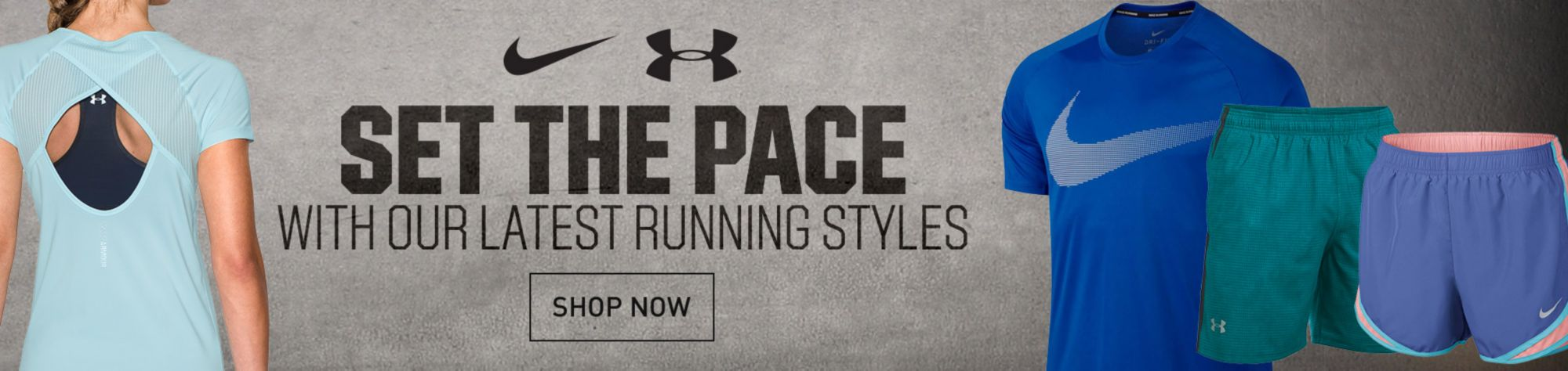 Men's and Women's Nike & UA Running Apparel