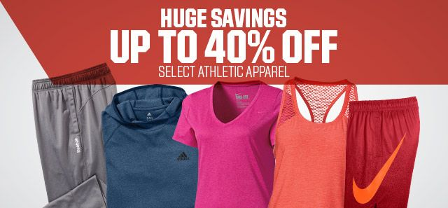 Shop Up To 40% Off Apparel