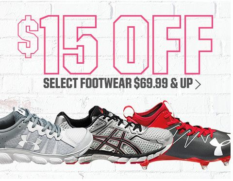 $15 Off Select Footwear