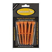 "Consistent-Tee 3.25"" Orange Golf Tees – 10-Pack"