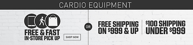 Free Shipping on Cardio $999 and Up