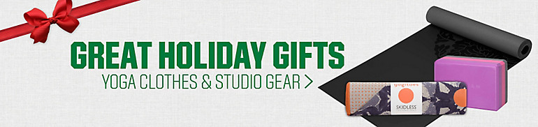 Great Holiday Gifts - Yoga Clothes and Studio Gear