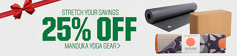 25% Off Manduka Yoga Gear