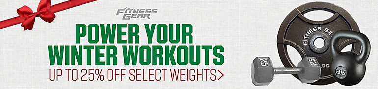 Up To 25% Off Select Fitness Gear Weights