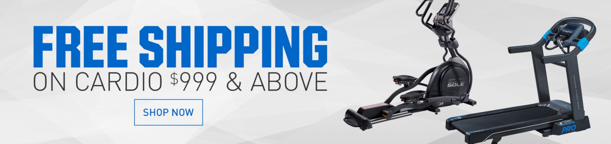 Free Shipping on Cardio $999 & Above