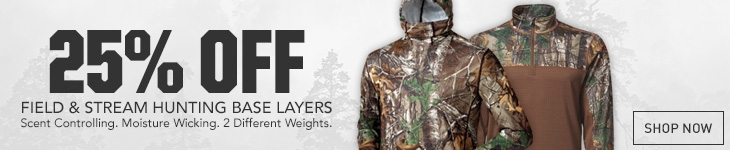 25% Off Field & Stream Hunting Base Layers