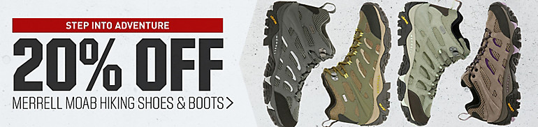 20% Off Merrell MOAB Hikers