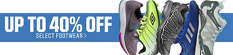 Up to 40% Off Select Footwear