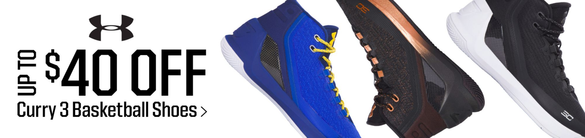 Shop Up To $40 Off Curry 3 Basketball Shoes