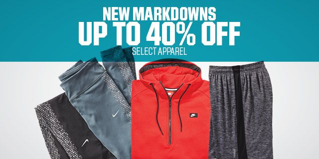 Shop Up To 40% Off Select Apparel