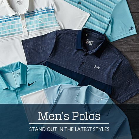 Men's Polos stand out in the latest styles