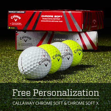 Free Personalization Callaway Chrome Soft