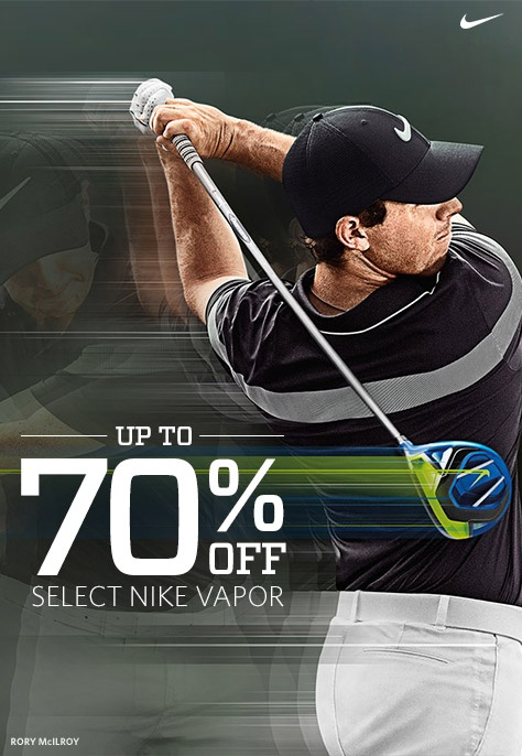 Save up to 70% off on Select Nike Vapor
