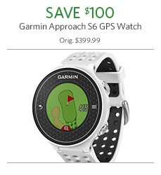 Save $100 on Garmin Approach S6 GPS Watch
