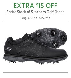 Extra $15 Off Entire Stock of Sketchers Golf Shoes